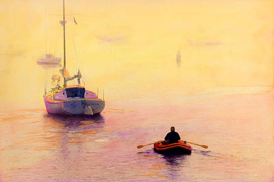 Painting - Rowing Out by Cindy McIntyre