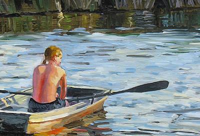 Rowing The Boat Original by Dominique Amendola
