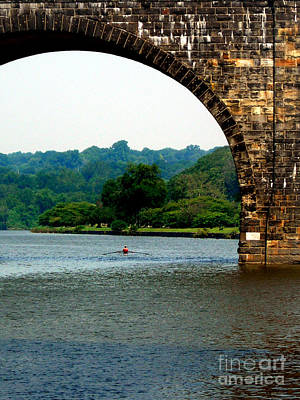 Rowing The Schuylkill Art Print by Skip Willits
