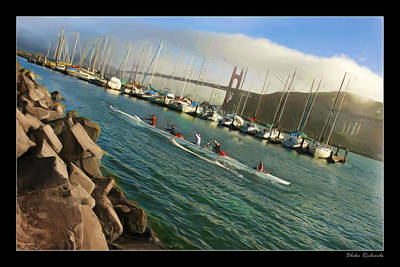 Photograph - Rowing To The Golden Gate Bridge by Blake Richards