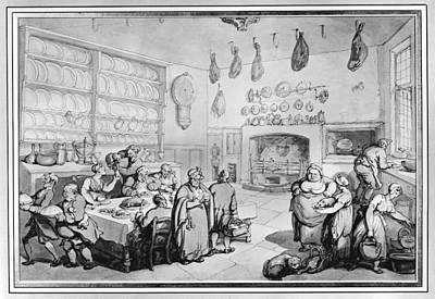 Rowlandson Kitchen Art Print