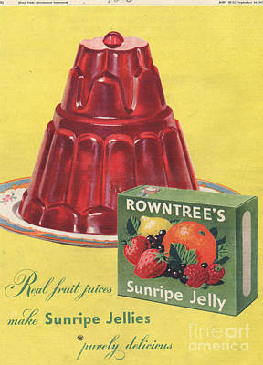 Nineteen-fifties Drawing - Rowntree�s 1950s Uk Jelly, Desserts by The Advertising Archives