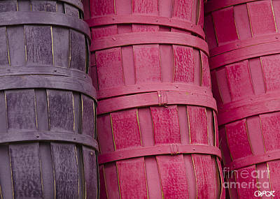 Photograph - Rows Of Baskets by Wanda Krack