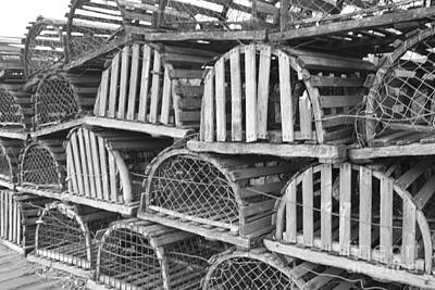 Photograph - Rows Of Old And Abandoned Lobster Traps by John Telfer