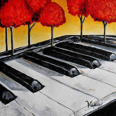 Piano Painting - Roxie's Song by Vickie Warner