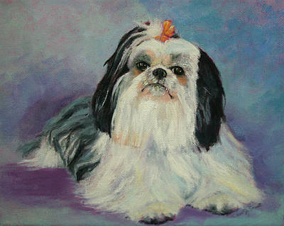 Painting - Roxy Frasier The Shih Tzu by Carol Jo Smidt