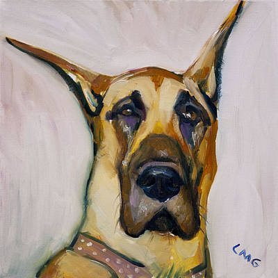 Great Dane Oil Painting - Roxy by Lisa Goldfarb