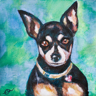 Dog Portrait Painting - Roxy by Tammy Berk