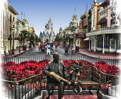 Roy And Minnie Mouse Walt Disney World Art Print by Thomas Woolworth