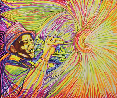 Painting - Roy Eldridge Got His Finest Chord by Lola Lonli