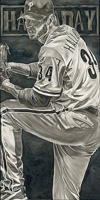 Roy Halladay Art Print by David Courson