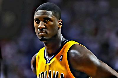 Indiana Painting - Roy Hibbert Portrait by Florian Rodarte