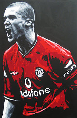 Painting - Roy Keane - Manchester United Fc by Geo Thomson