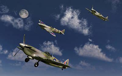 Spitfire Photograph - Royal Air Force Supermarine Spitfires by Mark Stevenson