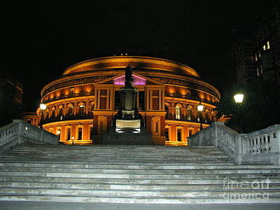 Royal Albert Hall At Night Art Print by Bev Conover