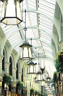 Hanging Basket Photograph - Royal Arcade by Tom Gowanlock