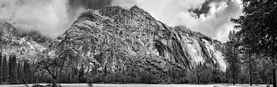 Photograph - Royal Arches In Yosemite Bw by Gregory Scott