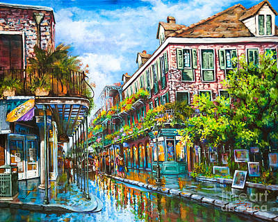 Town Painting - Royal At Pere Antoine Alley, New Orleans French Quarter by Dianne Parks