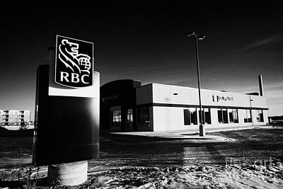 royal bank of canada rbc branch in winter Saskatoon Saskatchewan Canada Art Print by Joe Fox