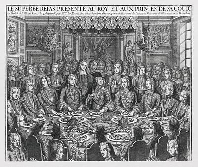 Banquet Photograph - Royal Banquet To Celebrate The Birth by Everett