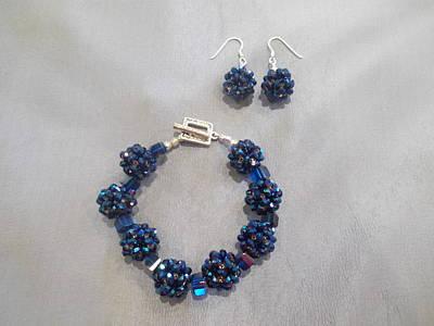 Sterling Silver Bracelet Jewelry - Royal Blue Crystal Bracelet by Jan Durand