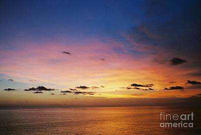 Photograph - Royal Blue Sunset In The Gulf Of Mexico Off The Coast Of Louisiana by Michael Hoard