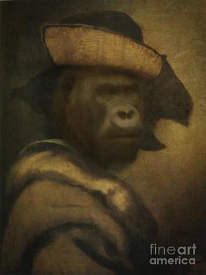 Royal Burglar Gorilla Human Body Animal Head Portrait Original
