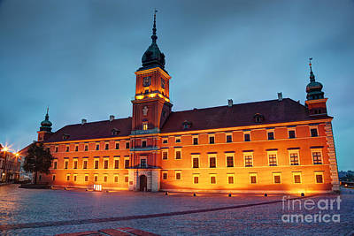 Photograph - Royal Castle In Warsaw Poland At The Evening by Michal Bednarek