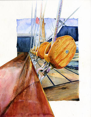 Painting - Royal Clipper Ships Tackle by John D Benson