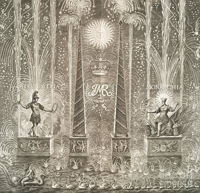 Royal Coronation Fireworks, 17th Century Art Print by General Research Division