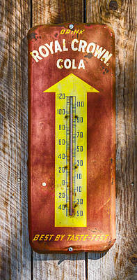 Photograph - Royal Crown Barn Thermometer by Carolyn Marshall
