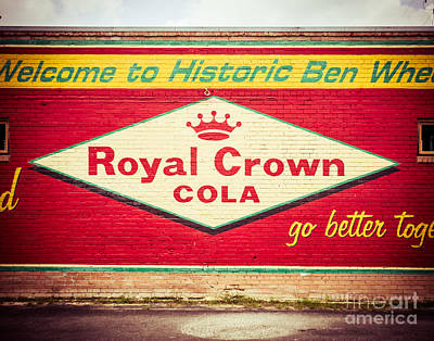 Squint Photograph - Royal Crown Cola by Sonja Quintero