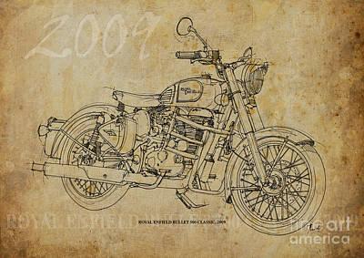 Royal Enfield Bullet 500 Clasic Art Print