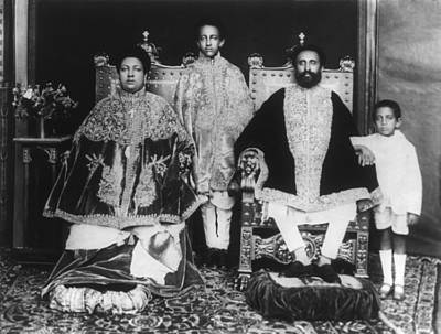 Bsloc Photograph - Royal Family Of Ethiopia Abyssinia by Everett