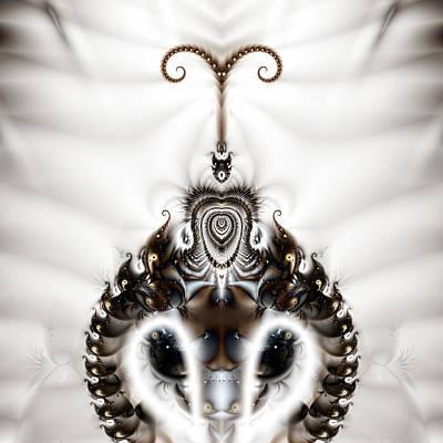 Gina Manley Digital Art - Royal Feline - A Fractal Design by Gina Lee Manley