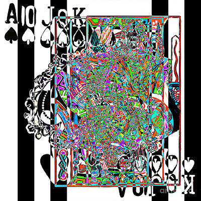Royal Flush In Abstract 20140301v3 Square Art Print by Wingsdomain Art and Photography