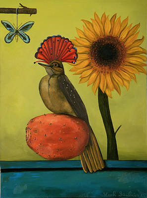 Flycatcher Painting - Royal Flycatcher  by Leah Saulnier The Painting Maniac