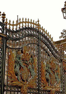 Buckingham Palace Digital Art - Royal Gates by Brad Gravelle
