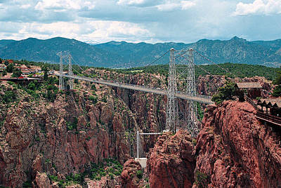 Royal Gorge Bridge Art Print