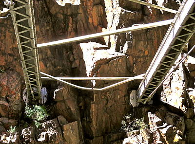 Photograph - Royal Gorge Bridge Support by Jeff Gater