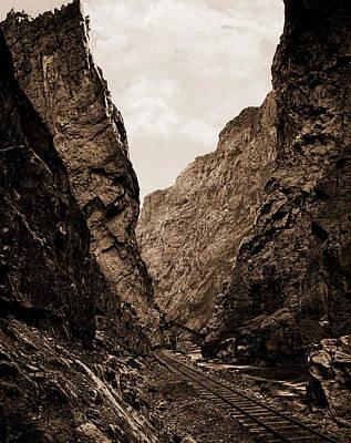 Canyons Drawing - Royal Gorge, Canyon Of The Arkansas, Colorado, Jackson by Litz Collection