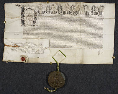 Charter Photograph - Royal Grant To Sir T. Pope by British Library