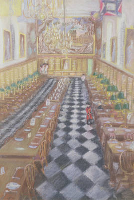 Royal Hospital Chelsea, 1996 Pastel On Paper Art Print