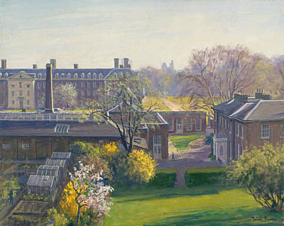 Chelsea Photograph - Royal Hospital From 33 Tite Street Oil On Canvas by Julian Barrow
