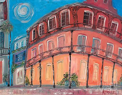 Wall Art - Painting - Royal Hotel Moon by Kerin Beard