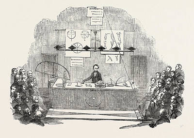 Royal Institution, Lecture On The Rotation Of The Earth Art Print