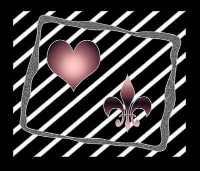 Fleur De Lis Painting - Royal Love Original Digital Painting by Georgeta Blanaru