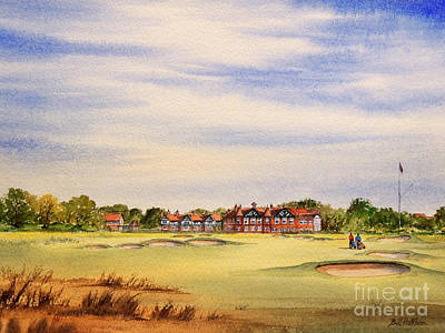 Sports Paintings - Royal Lytham and St Annes Golf Course by Bill Holkham