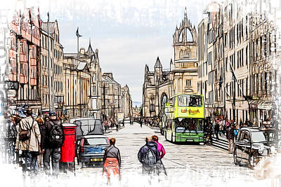 Photograph - Royal Mile Edinburgh by Fiona Messenger