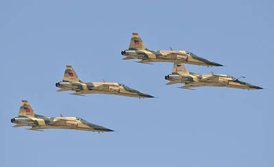 Moroccan Photograph - Royal Moroccan Air Force F-5 Planes by Giovanni Colla
